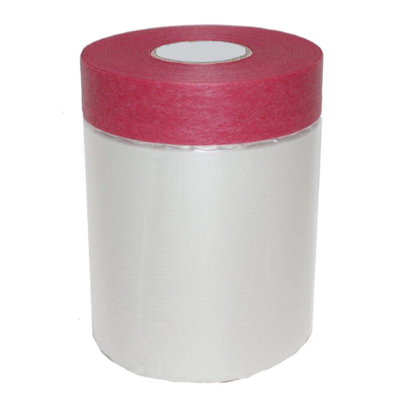 Masker Tape Folie mit Abklebeband Cover Quick Abdeckfolie rot 55cm x 33m